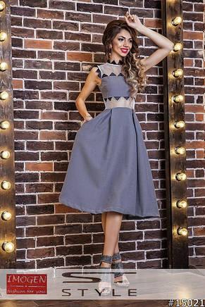 Платье сетка с трикотажем , фото 2