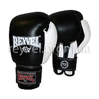 Боксерские перчатки REYVEL винил 8 oz 8.0, Детская, Искусственная кожа, Reyvel, Украина, Тренировочные, Чорный