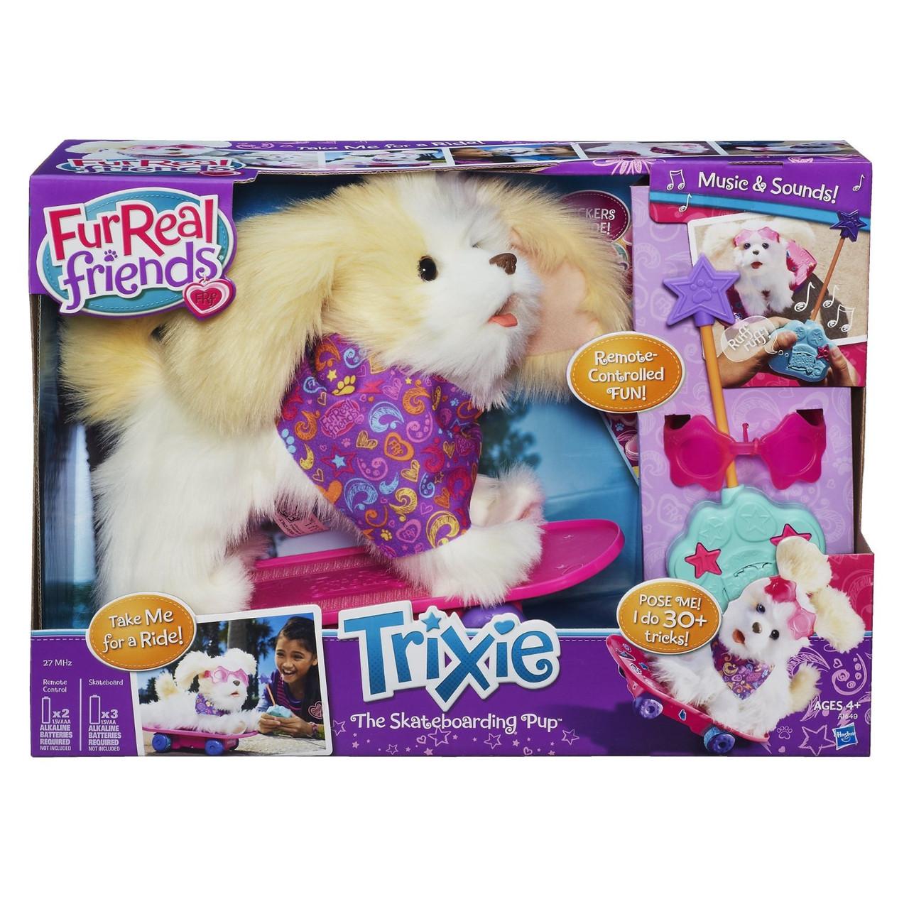Интерактивная собака Трикси на скейте FurReal Friends