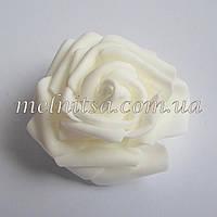 Роза из латекса, белая 7 см