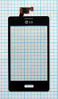 Тачскрин сенсорное стекло для LG E612 Optimus L5 black, фото 1
