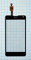 Тачскрин сенсорное стекло для LG E975 Optimus G black