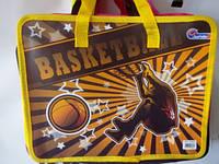 """Папка - портфель """" J.Otten """" с ручками """"Баскетбол"""" 26х62см  №S1611"""