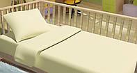 Сменный постельный комплект в кроватку «Горошки» (Бежевый), Top Dreams