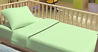 Сменный постельный комплект в кроватку «Горошки» (Салатовый), Top Dreams