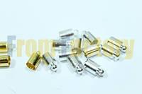 Застежки/заглушки (комплектующие, 2шт) 4мм Серебро