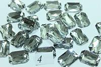 Камни пришивные (Восьмиугольник 13х18мм) 20шт. Прозрачный