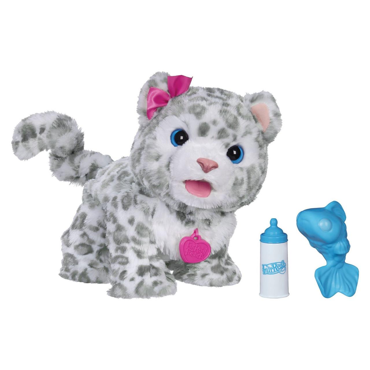 Снежный леопард барс FurReal Friends интерактивная мягкая игрушка Baby Snow Leopard Hasbro