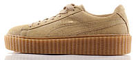 "Женские кроссовки Rihanna x Puma Suede Creeper ""Wheat"", пума"