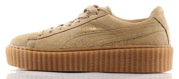 146af1d1fd40 Женские кроссовки Rihanna x Puma Suede Creeper