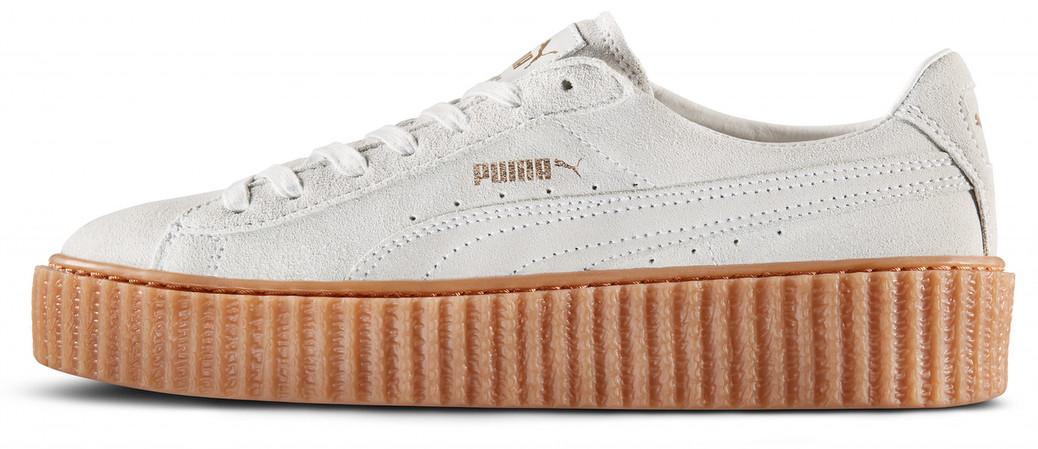 Женские кроссовки Rihanna x Puma Suede Creeper White 361005-06, Пума Риана Сьюд