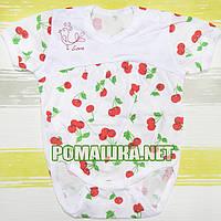 Детский боди-футболка р. 74 ткань КУЛИР 100% тонкий хлопок ТМ Алекс 3093 Белый