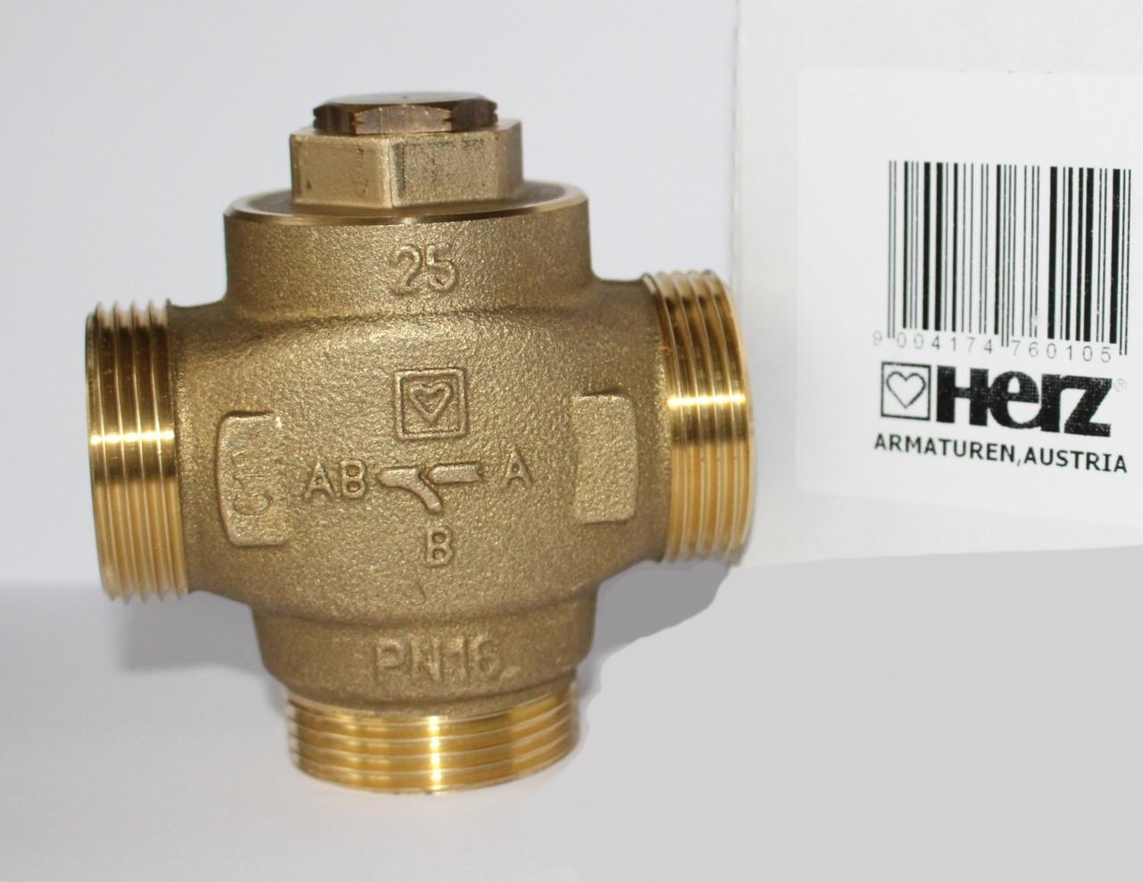 Трехходовой смесительный клапан термостатический HERZ Teplomix DN25 - 1 7766 03