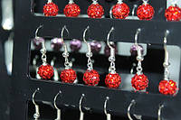 Сережки (Шамбала) Красный