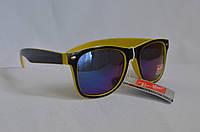 Солнцезащитные очки унисекс Ray Ban Wayfarer Хамелеон желто-черный, фото 1