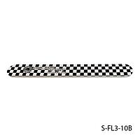 """Пилка Lady Victory S-FL3-10B с наждачным напылением, прямая, с принтом """"шахматная доска"""" (100/240)"""