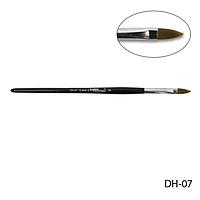 Кисть DH-07 - №7 для моделирования акрилом (нейлон)