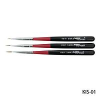 Набор кистей KIS-01 для росписи (нейлон, разные размеры, 3 шт)