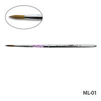 Кисть ML-01 - №8 для моделирования акрилом натуральная (соболь)