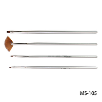 Набор кистей SK-17 (MS-105) для росписи (нейлон, 4 шт)