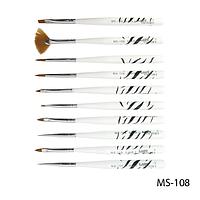 Набор кистей SK-19 (MS-108) для росписи (нейлон, 10 шт)