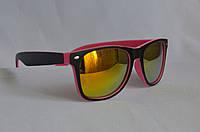 Солнцезащитные очки унисекс  Wayfarer Хамелеон матовый розово-черный, фото 1