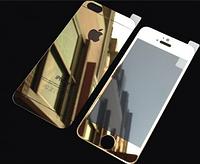 Переднее и заднее золотое стекло для Iphone 5/5S противоударное, фото 1