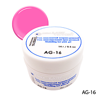 Гель Lady Victory AG-16 - 14 г, для дизайна ногтей (Ярко-розовый),