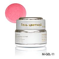 Гель цветной Lady Victory M-GEL-11 перламутровый с блестками - 7 г (Бледно-розовый),