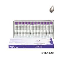 Акриловые краски в тубе PCR-02-09 перламутровые, цвет: белый (12 шт по 12 мл),