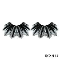 Ресницы декоративные накладные Lady Victory EYD-N-14 из натуральных перьев