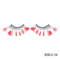 Ресницы декоративные накладные Lady Victory EYD-C-10 с натуральными перьями