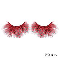 Ресницы декоративные накладные Lady Victory EYD-N-19 из натуральных перьев