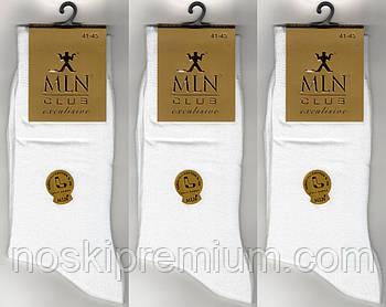 Носки мужские демисезонные 100% х/б Milano Club Exclusive, без шва, 41-45 размер, белые, 899