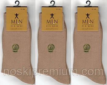 Носки мужские демисезонные 100% х/б Milano Club Exclusive, без шва, 41-45 размер, бежевые, 897
