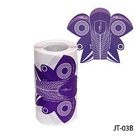 """Форма для наращивания ногтей JT-03B одноразовая, бумажная на клейкой основе, формы """"стилет"""" (100 шт)"""