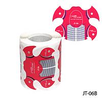 """Форма для наращивания ногтей JT-06B одноразовая универсальная, бумажная на клейкой основе, идеальный """"С-изгиб"""" (150 шт)"""