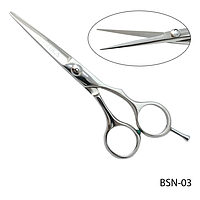 """Ножницы парикмахерские BSN-03 - для стрижки, полуэргономичной формы, размер: 5,2"""""""