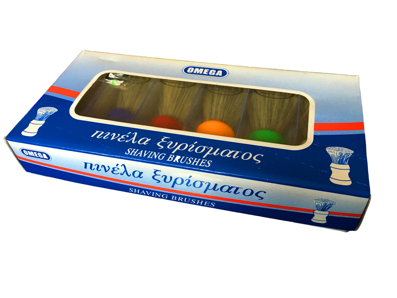 """Помазок бритвенный  """"Omega"""" с черным ворсом, большой, №5 (упаковка 6 штук)"""