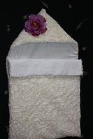 Зимний конверт для новорожденной девочки
