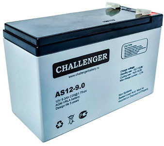 Аккумулятор AGM - 9 Ач, 12В гелевый Challenger AS12-9.0