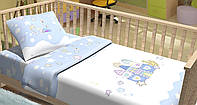 Сменный постельный комплект в кроватку «Замок» (Голубой), Top Dreams