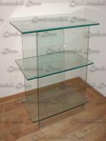 Стеклянный столик под оргтехнику, фото 1