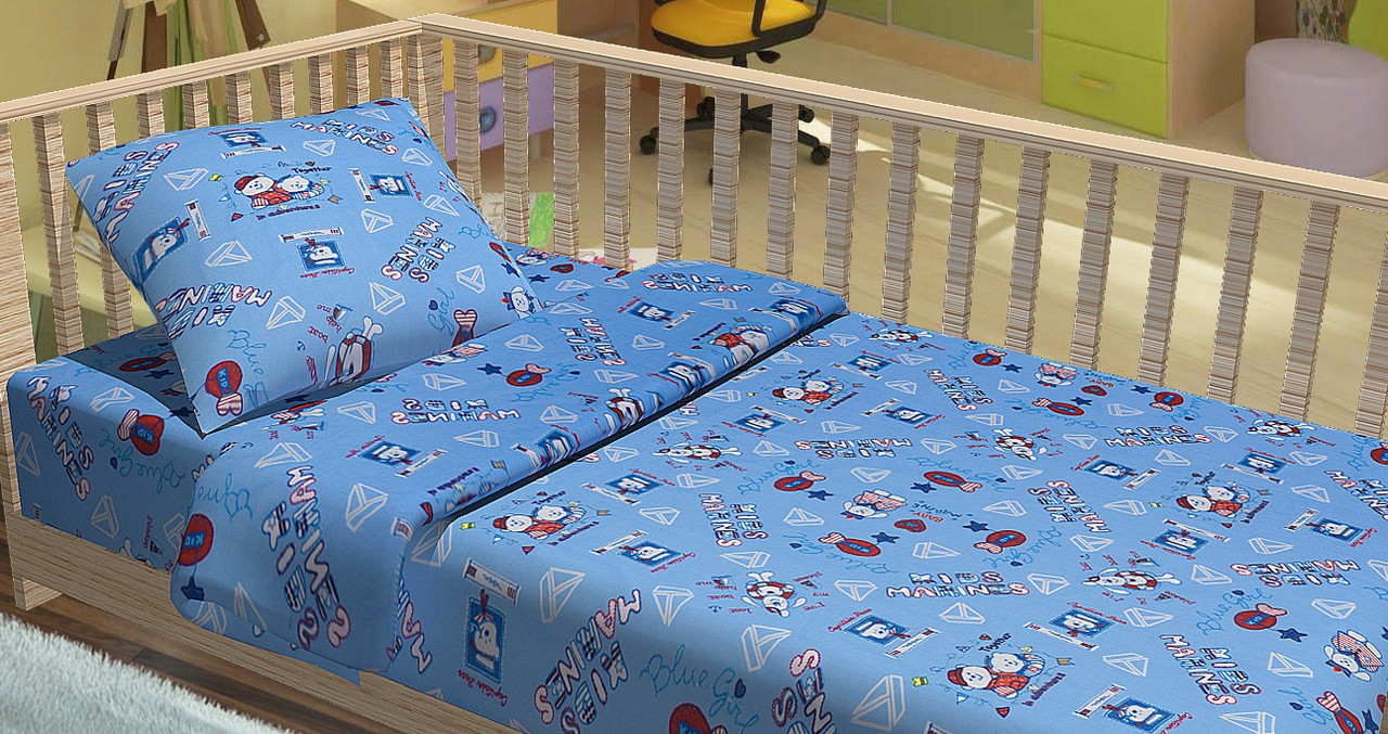 Сменный постельный комплект в кроватку Kids Marines, Top Dreams
