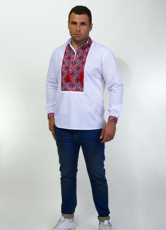 """Вышитая мужская рубашка крестиком с длинным рукавом - Оптово-розничный интернет-магазин Fashion Way """"Модный образ"""" в Хмельницком"""