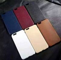 """Резиновый чехол для iphone 6 6s фактура """"под кожу"""""""
