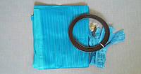 Антимоскитная сетка на магнитах в дверной проем, голубая, 90*210 см