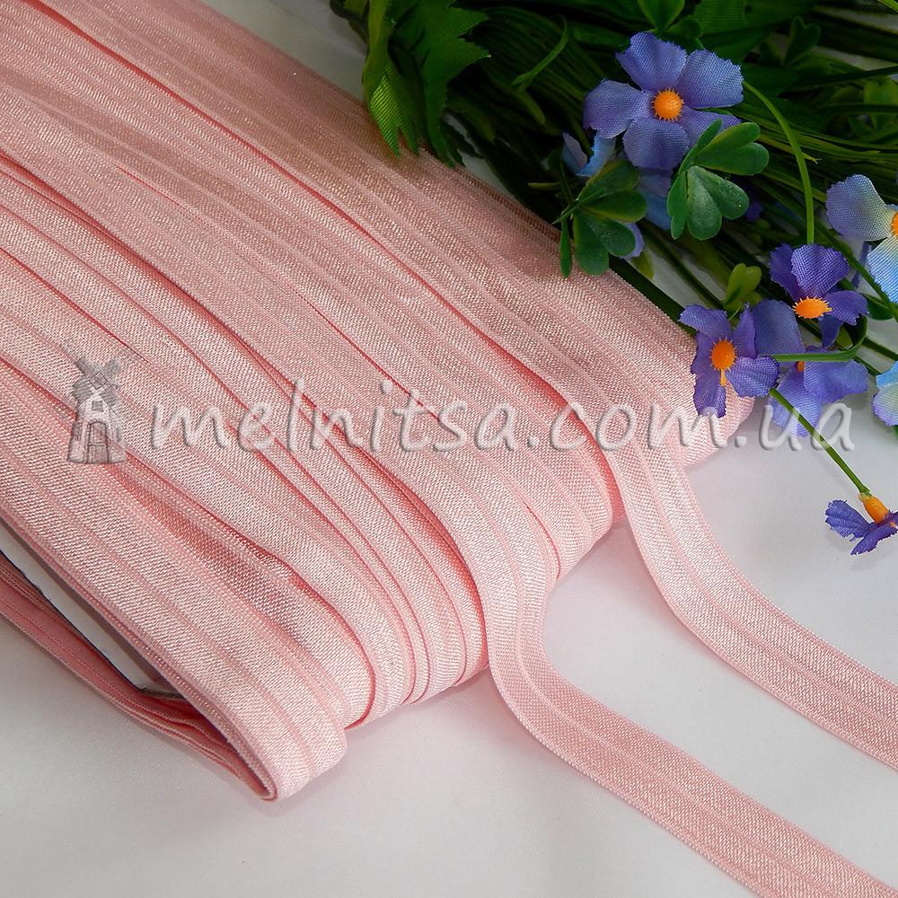 Резинка для повязок (эластичная бейка), 1,5 см, св. розовый