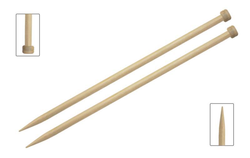 Спицы прямые 25 см Basix Birch Wood KnitPro  12,00 мм