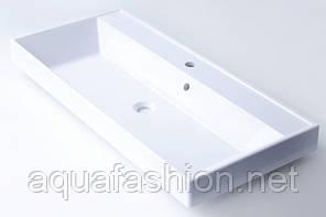 Умивальник на стільницю з литого мармуру Fancy Marble Signe 100 см